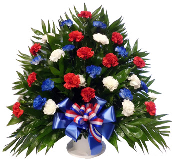 32 Carnation Tribute Basket: Patriotic  in Fredricksburg VA, Heaven Scent Florist