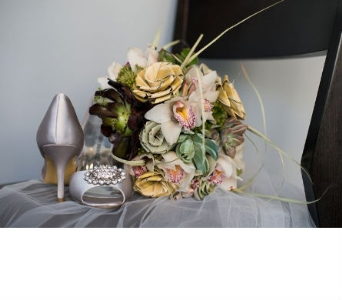 Succulent and Sweetgrass Rose Bouquet in Knoxville TN, The Flower Pot