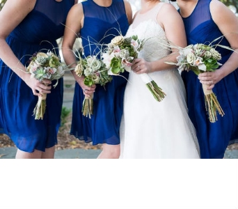 Succulent and Sweetgrass Bridesmaids in Knoxville TN, The Flower Pot