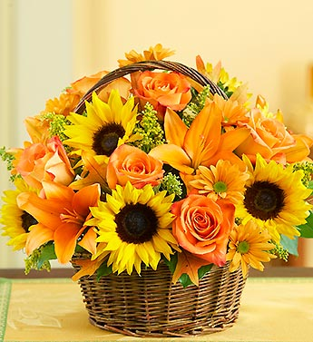 Fields of Europe Fall Basket in Largo FL, Rose Garden Flowers & Gifts, Inc