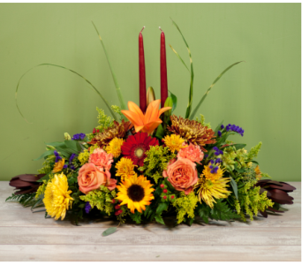 Brookville Thanksgiving Centerpiece in Merrick NY, Feldis Florists