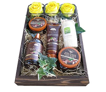 Luxe Pampering Spa Gift Box in Eugene OR, Dandelions Flowers