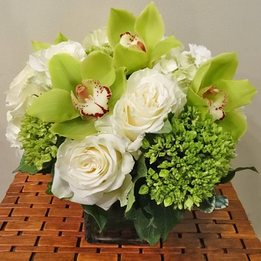 GREEN CYMBIDIUM DREAM BOUQUET in Vienna VA, Vienna Florist & Gifts
