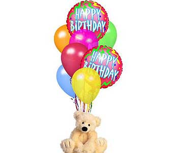 Bear & Balloon Bouquet in Timmins ON, Timmins Flower Shop Inc.
