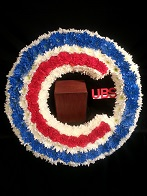 Cubs Memorial Wreath in Roselle IL, Roselle Flowers