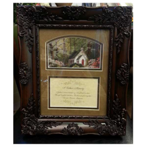 A Father's Memory Frame in Hendersonville TN, Brown's Florist