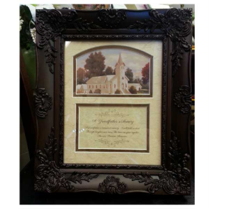 A Grandfather's Memory Frame in Hendersonville TN, Brown's Florist