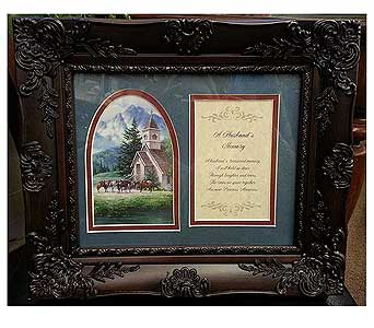 A Husband's Memory Frame in Hendersonville TN, Brown's Florist