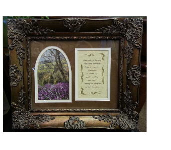 Sympathy Keepsake Frame in Hendersonville TN, Brown's Florist