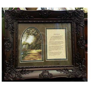 FOOTPRINTS Poem and Frame in Hendersonville TN, Brown's Florist