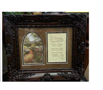 The Dove Sympathy Frame in Hendersonville TN, Brown's Florist