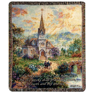 Holy Holy Holy Tapestry Throw Blanket in Hendersonville TN, Brown's Florist