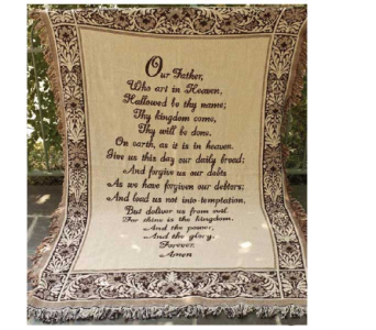 Our Father Tapestry Throw in Hendersonville TN, Brown's Florist