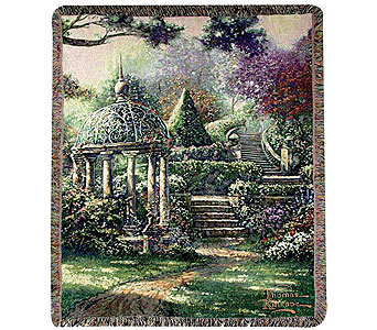 Thomas Kinkade Gazebo of Prayer Throw in Hendersonville TN, Brown's Florist