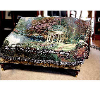 The Garden of Prayer Tapestry Throw in Hendersonville TN, Brown's Florist