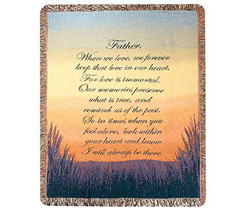 Forever a Father Tapestry Throw in Hendersonville TN, Brown's Florist