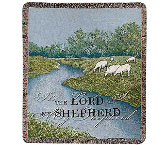 The Lord Is My Shepherd Tapestry Throw in Hendersonville TN, Brown's Florist