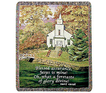 Hazel's Church Tapestry Throw in Hendersonville TN, Brown's Florist