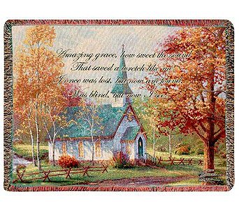 The Aspen Chapel Tapestry Throw in Hendersonville TN, Brown's Florist