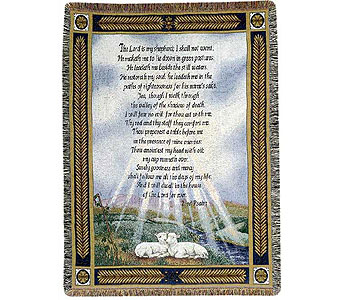 23rd Psalm Tapestry Throw in Hendersonville TN, Brown's Florist