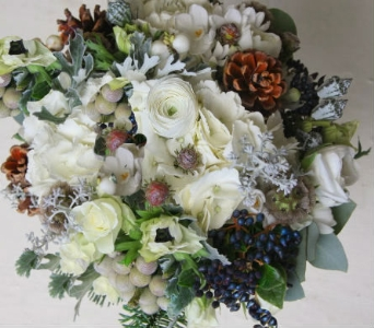 Warm & Woodsy White in Orinda CA, Misaghi Design Orinda Florist