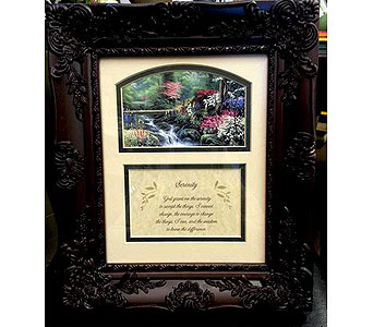 Serenity Keepsake Frame in Hendersonville TN, Brown's Florist