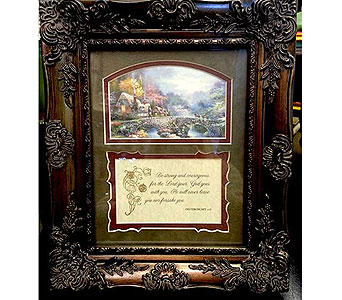 Deuteronomy 31:6 Keepsake Frame in Hendersonville TN, Brown's Florist