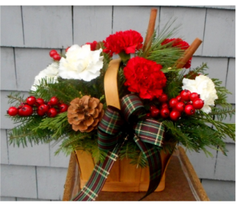 Cranberry Spice Basket in Skowhegan ME, Boynton's Greenhouses, Inc.