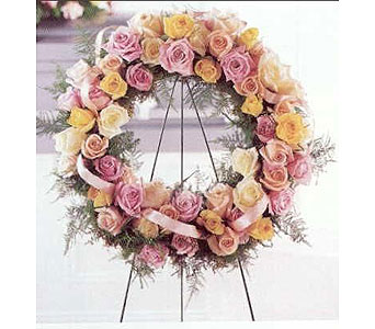 Rose Fusion Wreath in Houston TX, River Oaks Flower House, Inc.
