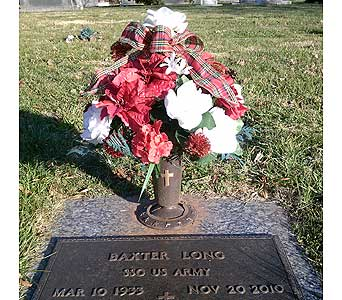Christmas Cemetery Vase in Statesville NC, Brookdale Florist, LLC