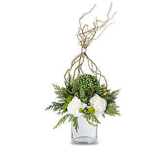 Go Green Holiday Bouquet in Oshkosh WI, House of Flowers
