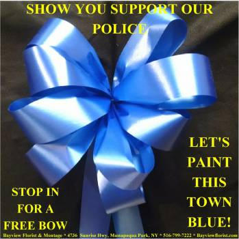 Police Support Bow in Massapequa Park NY, Bayview Florist & Montage  1-800-800-7304