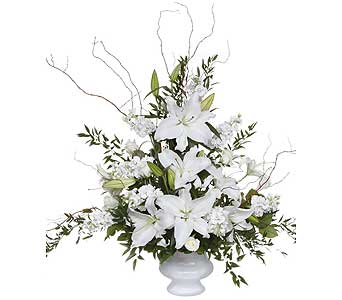 White Lily Remembrance in Nashville TN, Flowers By Louis Hody
