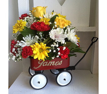 Customized Baby Wagon in Middletown DE, Forget Me Not Florist & Flower Preservation