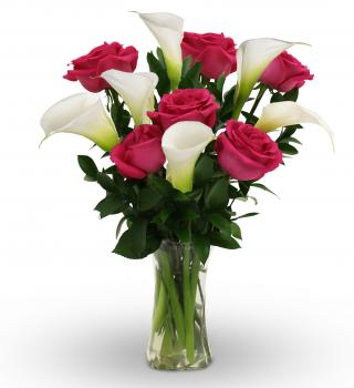 Callas and Roses in Largo FL, Rose Garden Flowers & Gifts, Inc