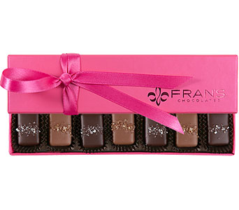 box of FRANS 7 piece caramels in Bellevue WA, CITY FLOWERS, INC.