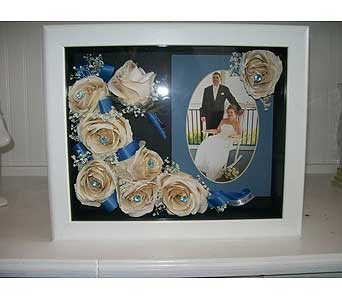 8x10 White Shadowbox in Middletown DE, Forget Me Not Florist & Flower Preservation