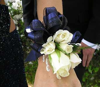 White Roses Corsage in San Antonio TX, The Tuscan Rose