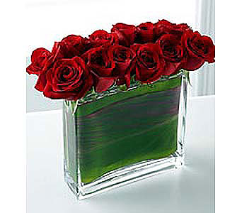 Modern Red Rose Bouquet in Bellevue WA, CITY FLOWERS, INC.
