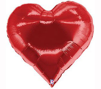Giant Red Heart Foil Balloon in Bellevue WA, CITY FLOWERS, INC.