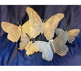 Metal Butterfly Plaque in Fayetteville GA, Our Father's House Florist & Gifts