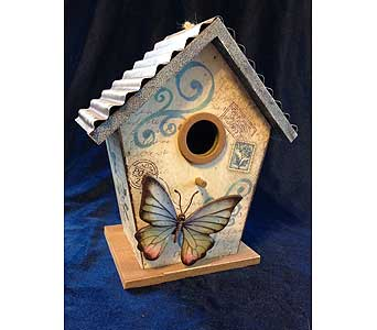 Metal Roof Butterfly Bird House in Fayetteville GA, Our Father's House Florist & Gifts
