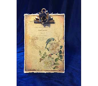 Burlap Rose Clipboard in Fayetteville GA, Our Father's House Florist & Gifts