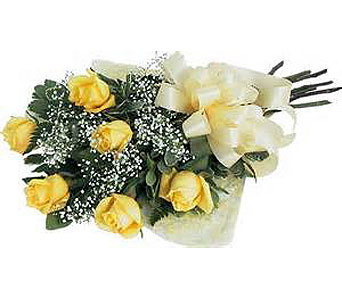 6 Yellow Roses in Madison ME, Country Greenery Florist & Formal Wear