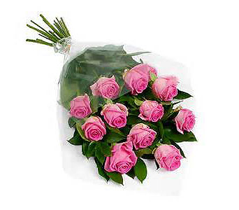 12 Pink Roses in Madison ME, Country Greenery Florist & Formal Wear