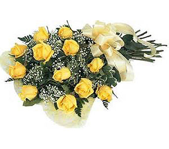 12 Yellow Roses in Madison ME, Country Greenery Florist & Formal Wear