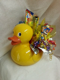 sweet duck candy bouquet in Crown Point IN, Debbie's Designs
