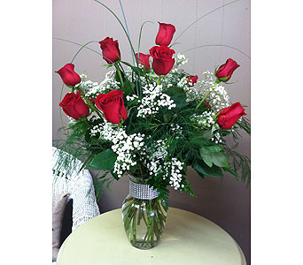 Dozen Red Roses in Creedmoor NC, Gil-Man Florist Inc.