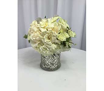 Romantic in White in Santa Clarita CA, Celebrate Flowers and Invitations