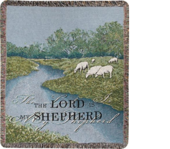 The Lord is my Shepherd Tapestry Throw in Hollidaysburg PA, Warner's Florist Gifts & Greenhouse